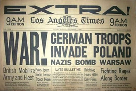 01 Sep 39: Germany invades Poland. For most European countries, this day marks the beginning of World War II. More: http://scanningwwii.com/a?d=0901&s=390901 #WWII
