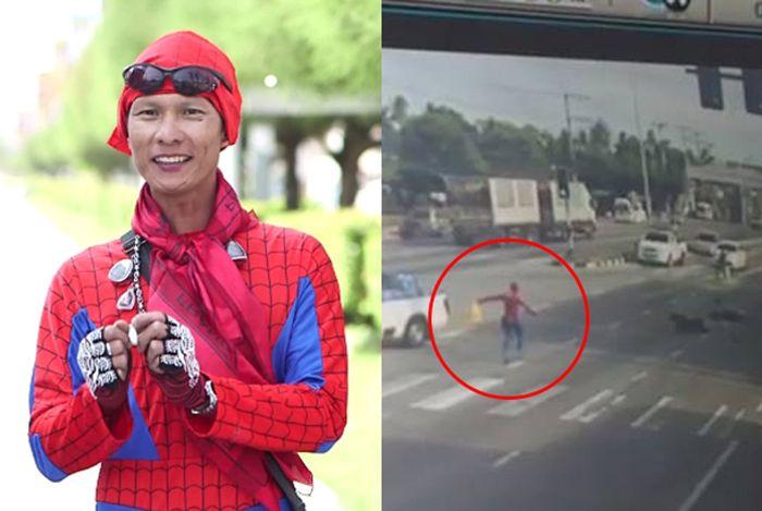 Video: Flower Spiderman selamatkan mangsa kemalangan dipuji netizen   SUDAH pasti watak-wataksuperheromenjadi kegilaan orang ramai. Lagi-lagi anak-anak kecil yang dari awal lagi sudah didedahkan dengan watak-watak adi wira popular ini.      Video: Flower Spiderman selamatkan mangsa kemalangan dipuji netizen    Baru-baru ini tular satu video menerus laman Facebook dalam kalangan rakyat Thailand. Rakaman menunjukkan Spiderman datang membantu mangsa selepas terpelanting dari motosikalnya akibat…