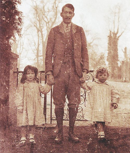 Elizabeth Bowes Lyon (later Queen Elizabeth, The Queen Mother) with older brother Jock and younger brother David
