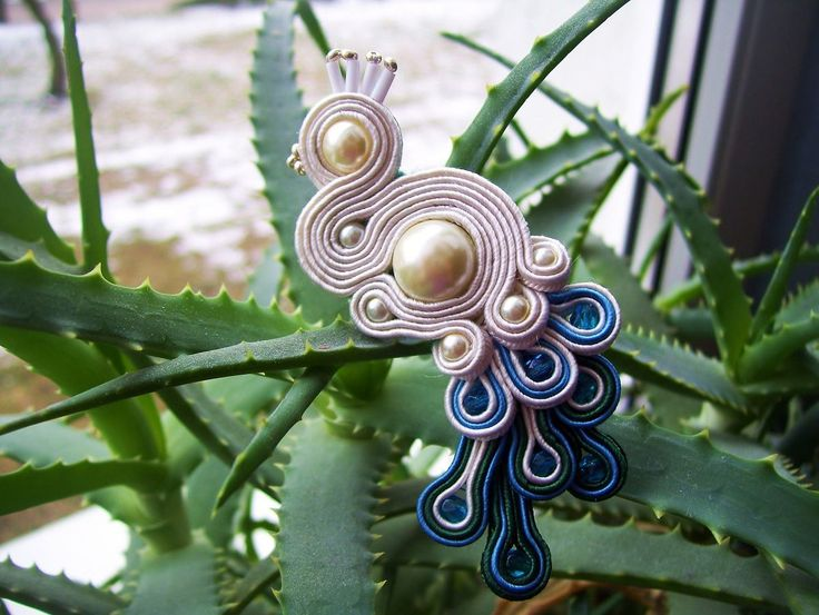 Agata Czołgosz, Peacock Soutache #jewelry #soutache
