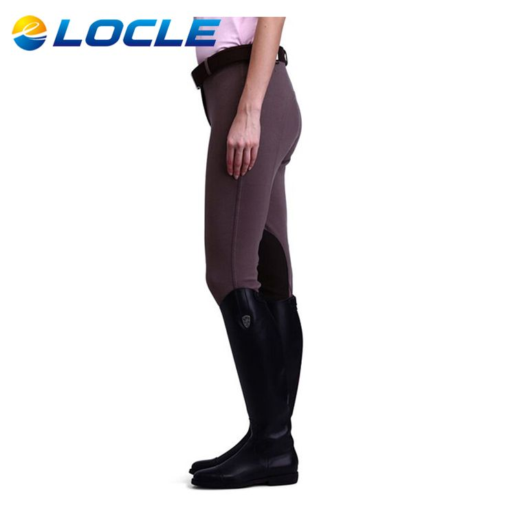 LOCLE Mujeres Profesionales Pantalones de Equitación Ecuestre Hípica Durable Caps o Pantalones Para Las Mujeres