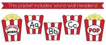 5.50 2nd Grade Popcorn Word-Wall Words {Editable!}