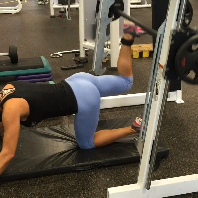 TAG A FRIEND!  - Absolutely one of the BEST glute isolation exercises u can do! Be sure to add weight and bring the bar all the way down and push all the way up for a good squeeze. They are tough, but they WORK! Try 3-4 sets of 12-15 reps, don't forget to squeeeeeze