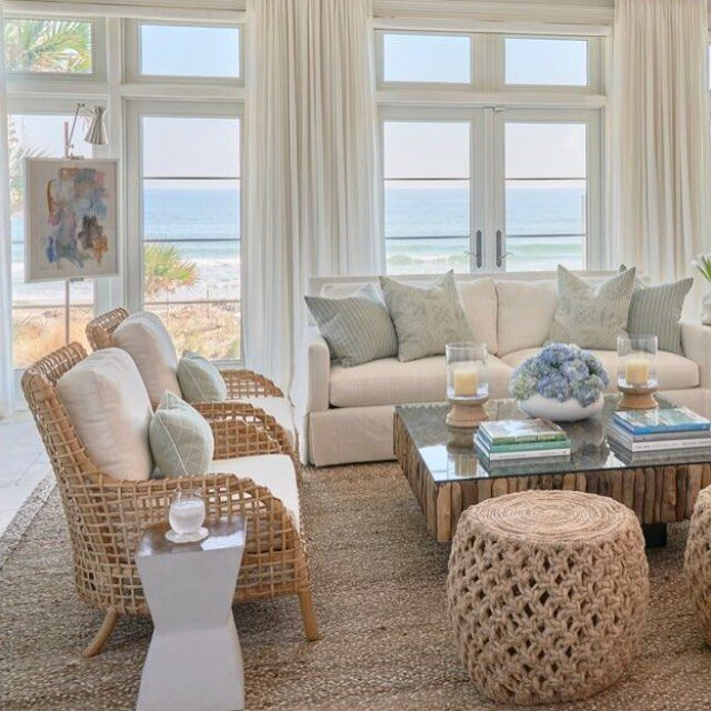 Our Power Is Back On Trying To Get Back To Normal Which Is So Hard When So Many Are Suffering Beach House Living Room Coastal Living Room Coastal Living Rooms