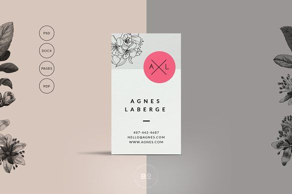 Floral Business Card Template by Botanica Paperie on @creativemarket