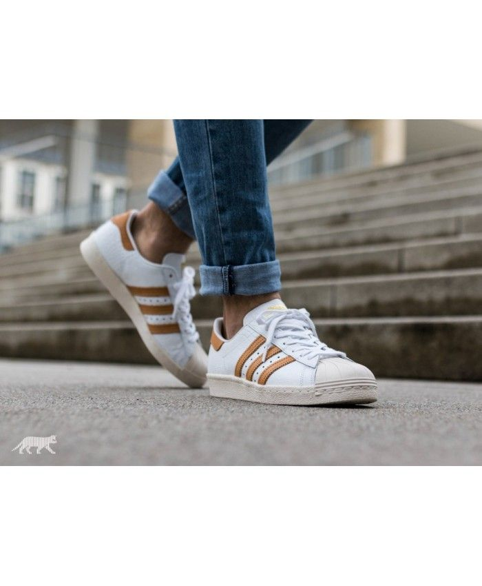 various colors 05905 62ac4 Adidas Originals Superstar 80s Ftwr White Gold Metallic Shoes