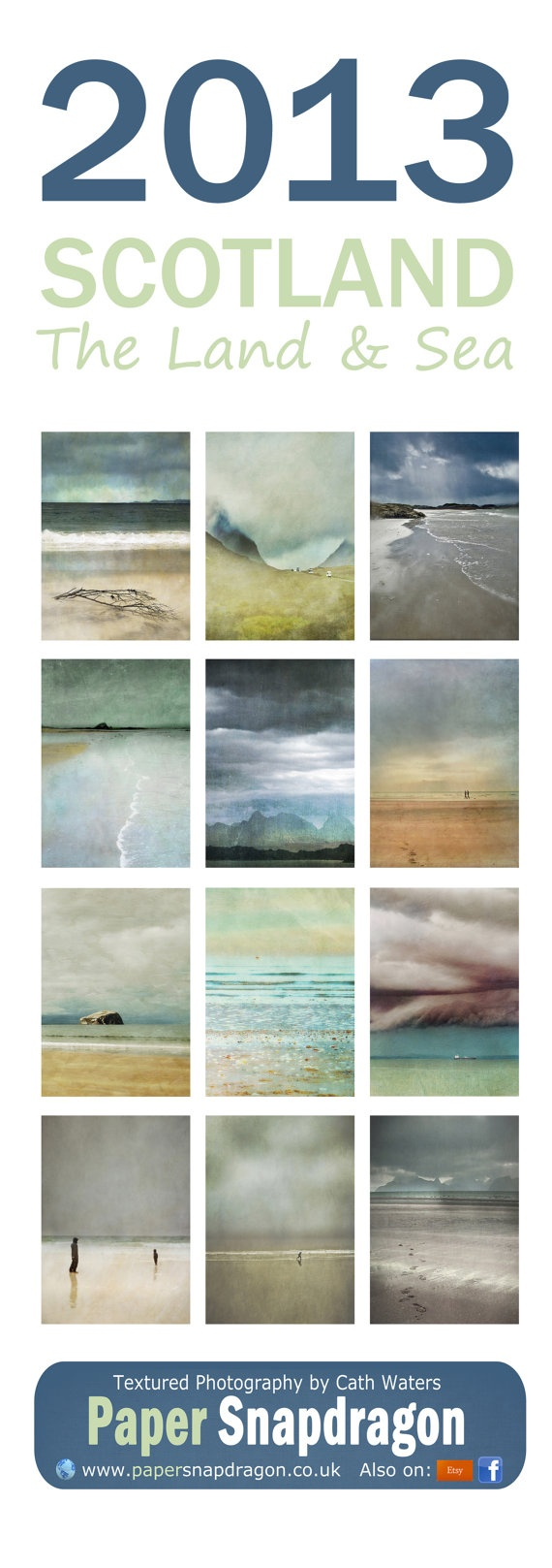 Scottish Landscape and Seascape 2013 Wall Calendar by PaperSnapdragon, £12.99