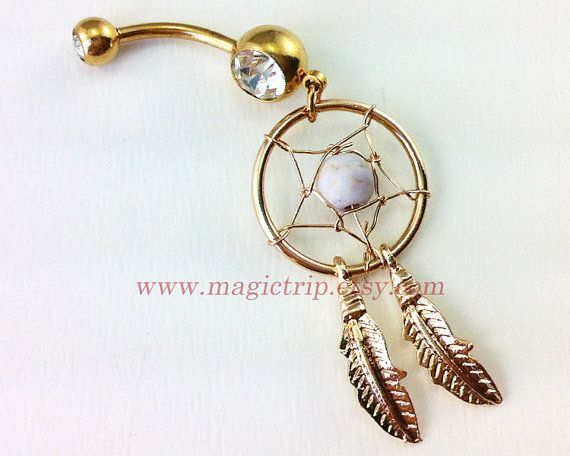Dream Catcher Belly Button Ring, Navel Jewelry,belly ring,feather belly button ring,summer jewelry