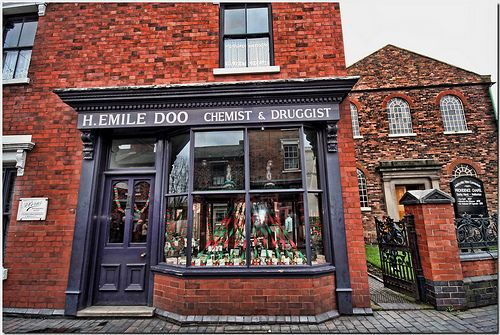 Chemist Shop The Black Country Living Museum at Dudley Midlands England UK. by Antsphoto, via Flickr