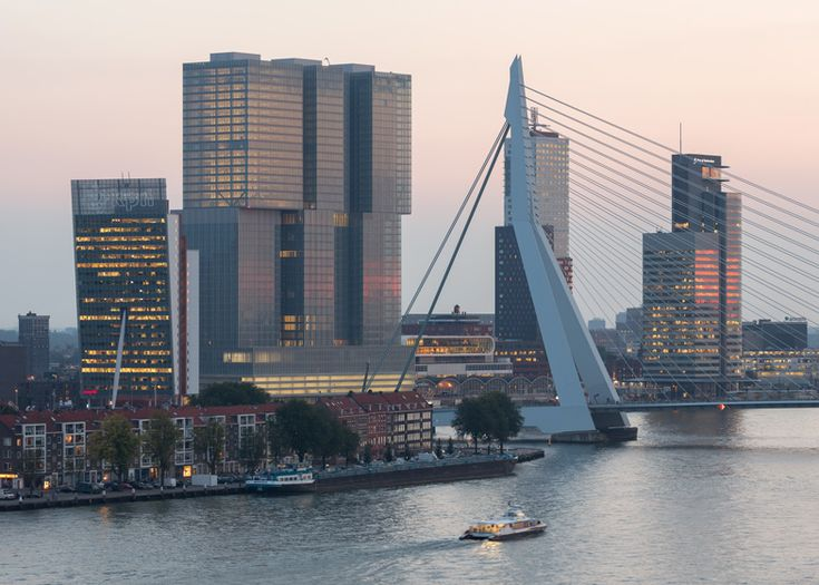 """Rem Koolhaas' colossal """"vertical city"""" in Rotterdam."""