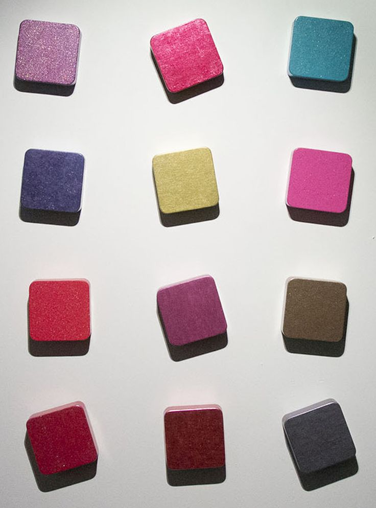 Elena Martynenko Touch me-2, 2014 Plywood, nail polish, each element 12x12cm http://www.artchoice.info/#!helena-martynenko/c1gbz