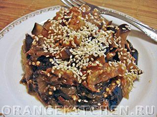 Вегетарианский рецепт баклажанов с чесноком