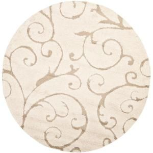 Safavieh Florida Shag Cream/Beige 5 ft. x 5 ft. Round Area Rug SG455-1113-5R at The Home Depot - Mobile