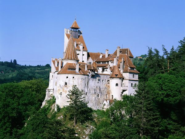 """Bran Castle. Linked to the famed """"Dracula"""" from Transylvania. A """"must see"""" in Romania."""