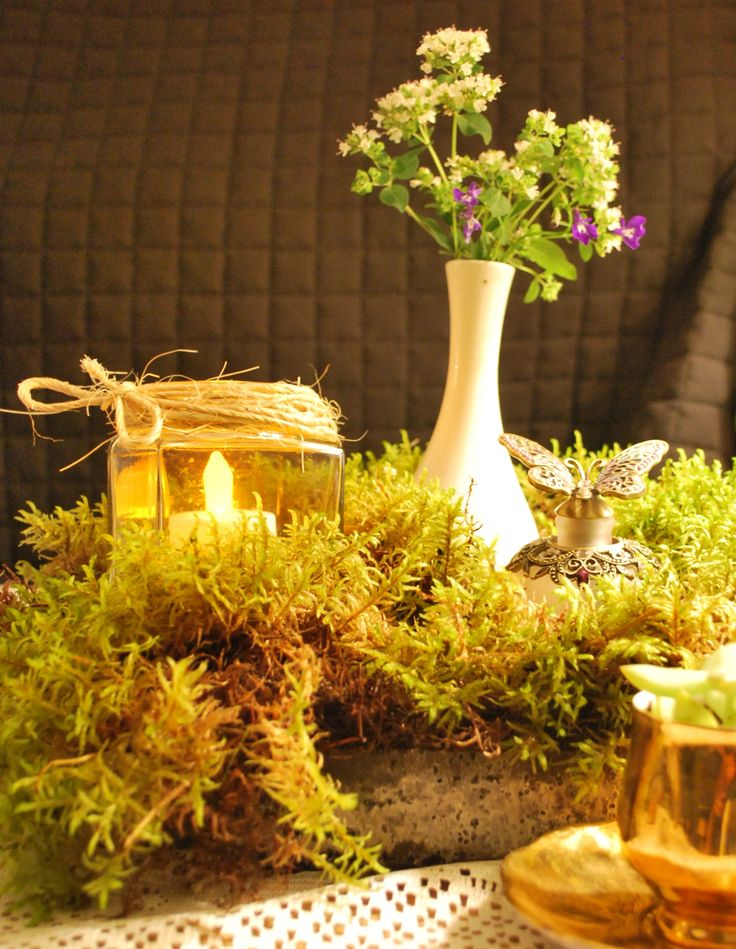 Moss, Forest Wedding Table Decor www.youwoodloveit.com