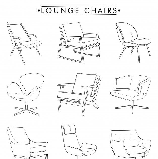 Lounge Chairs Outline Drawing Vector Premium Download Chair Outline Illustration Vector Hand Drawn Seat S In 2020 Outline Drawings Outline Illustration Outline Images