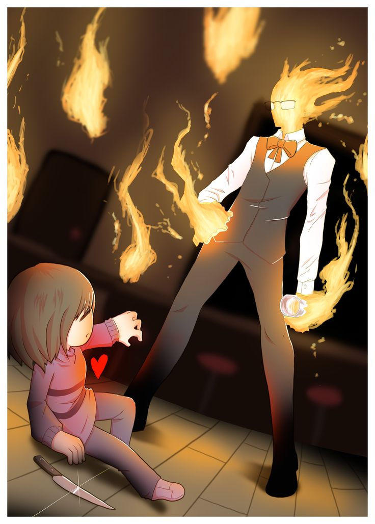 grillby guys But i still remember thinking once while playing the game that possibly heats is  just a flame that came off of grillby one day and ran away haha.