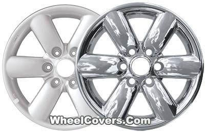 "Nissan Titan Armada Chrome Wheel Skins / Hubcaps / Wheel Covers 18"" 62493 2008 2009 2010 2011 2012 2013 2014 SET OF 4  #Hubcaps #WheelCovers"
