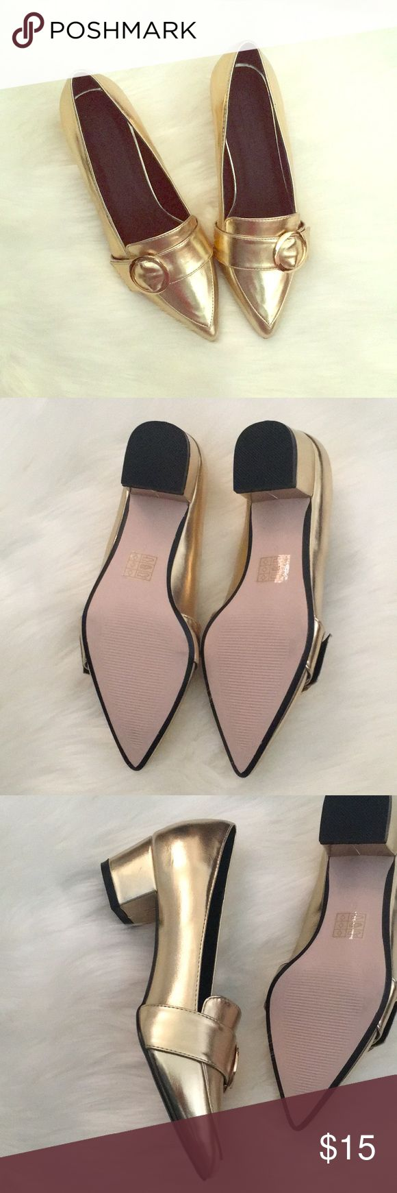 NWT ASOS pointed loafers Brand new condition  Never wear  Heel Height- 6cm/ 2 inch  Ship it within 48 hours Shoes Flats & Loafers
