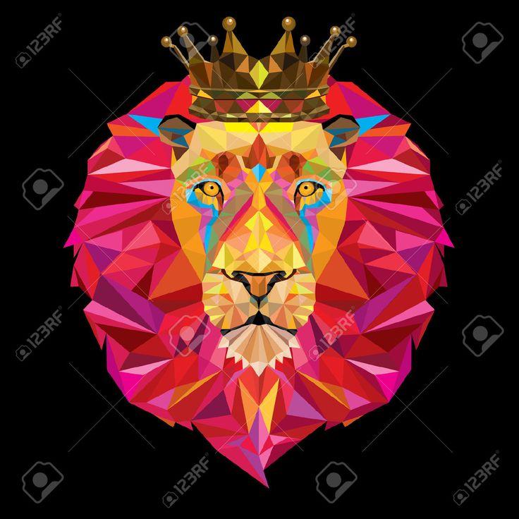 animales dibujados con figuras geometricas leon - Buscar ...