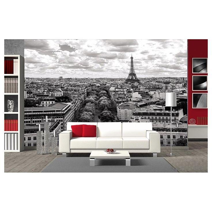 Paris dans votre salon avec ce papier peint panoramique, pour une déco chic à la française. http://www.amenager-ma-maison.com/papier-peint-panoramique-paris-PR-1478.html