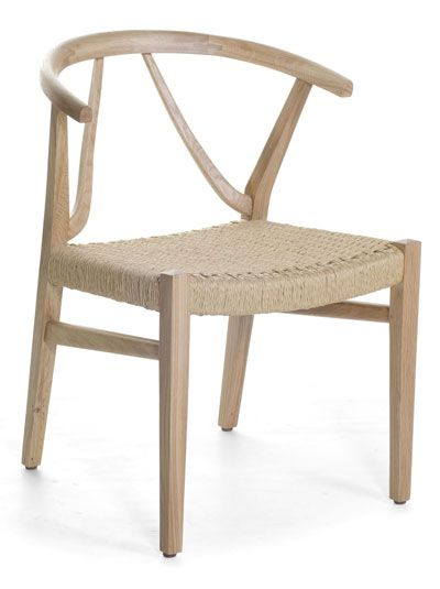 W-Dining Chair. Made in teak with Danish Cord weaving.
