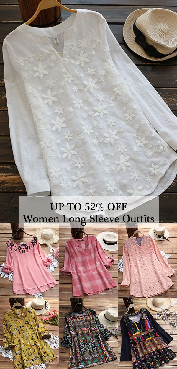 UP TO 52% OFF! Womens casual blouses and shirts, suitable for summer season. Plu…