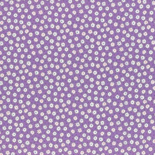 1930s Reproduction - Small Flowers Purple