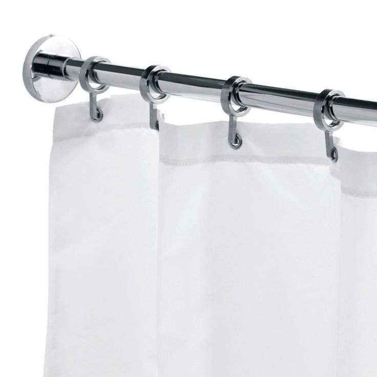 l luxury shower curtain rod with curtain hooks in chrome