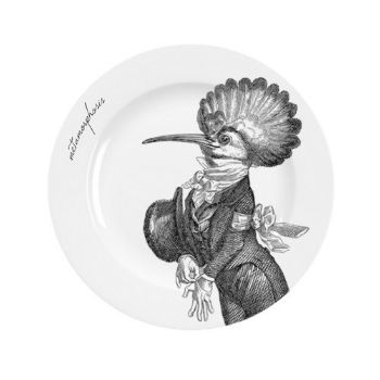 Mrs Moore Vintage Store Cockatiel Metamorphosis Side Plate: These fine bone china side plates are made in the UK. Decorated with the unique Metamorphosis bird design, it also comes in a gift box.