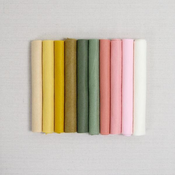 Boho Garden Felt Palette In 2020 Color Wool Felt Palette