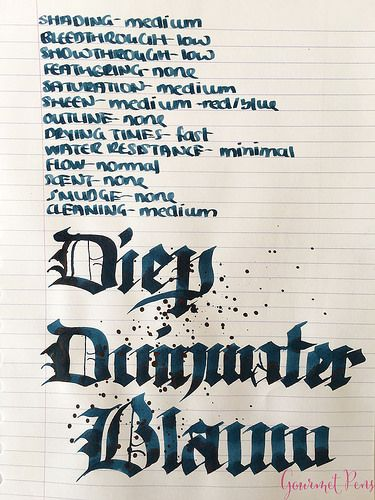 Ink Shot Review P.W. Akkerman Diep Duinwater Blauw @vulpennen 6 - Azizah Asgarali