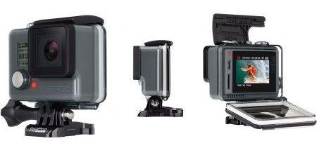 Camera video sport GoPro HERO, Full HD+ LCD Camera video sport GoPro HERO+ LCD Edition, filmare Full HD 1080p/60 fps, fotografiere 8 mpx, rezistenta la adancimi pana la 40m