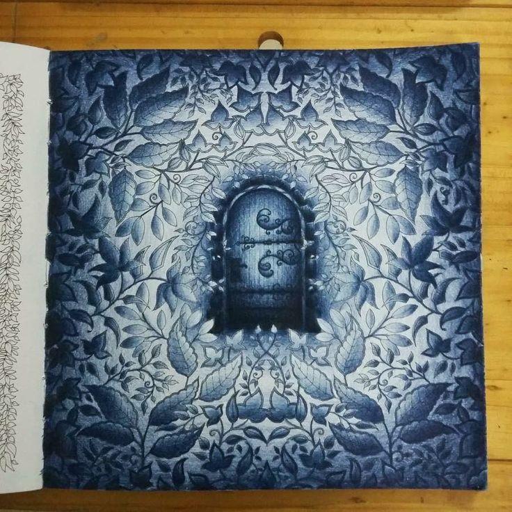Secret Garden Door Doors Coloring Book Forest Gardens Books Adult Johanna Basford