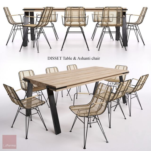 DISSET Table & Ashanti chair