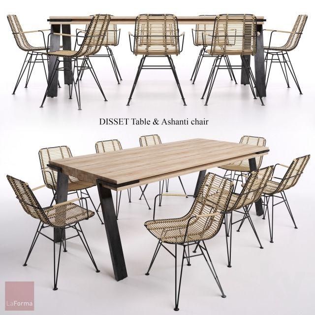 DISSET Table & Ashanti chair