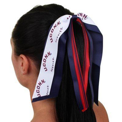 UConn Huskies Womens Jumbo Streamer Ponytail Holder For wearing during my next marathon?