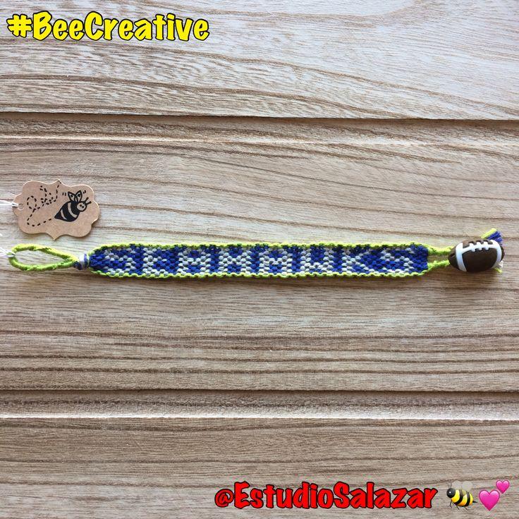 #Football #fans!!! $18 each - 🏈🦅🐝💕 #BeeCreative #Bee #art #crafts #artist #creative #handmade #custom #unique #design #pattern #diy #bracelet #bookmark #tag #luggagetag #keychain #collar #weddingfavours #gift #NFL #Seahawks #Seattle #sports #play #SuperBowl #team