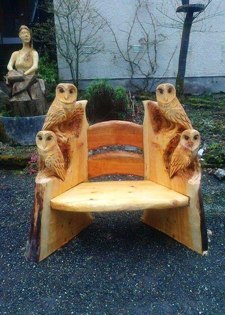 Wonderful DIY Wood Carving Owl - MagnificentDiy