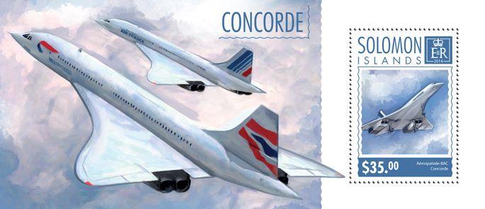 Post stamp Solomon Islands SLM 14603 bConcorde (Aérospatiale-BAC Concorde)