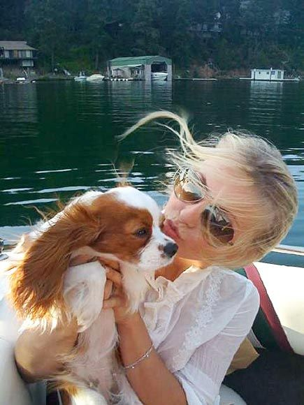 JULIANNE HOUGH This is how the Footloose star does vacation with her Cavalier King Charles spaniel, Harley: