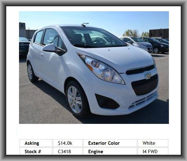 2014 Chevrolet Spark LS CVT Hatchback  Spoiler, Braking Assist, Adjustable Steering Wheel, Tire Pressure Monitoring System, Anti-Lock Brakes, Intermittent Wipers
