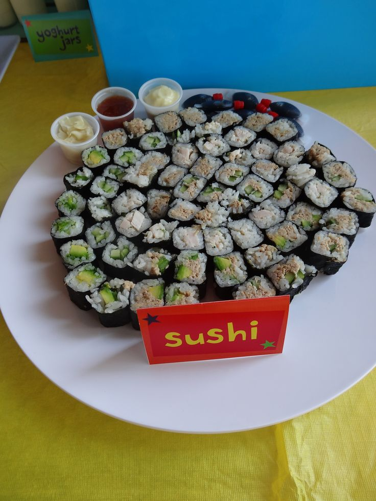Sushi - my favorites are vegetarian but all are crowd pleasers. Concoct them yourself or buy them ready-made. They'll be a hit either way.