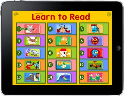 The Starfall Reading app is best for 1st grade +.  Fun and interactive, my kids could spend hours on this one.