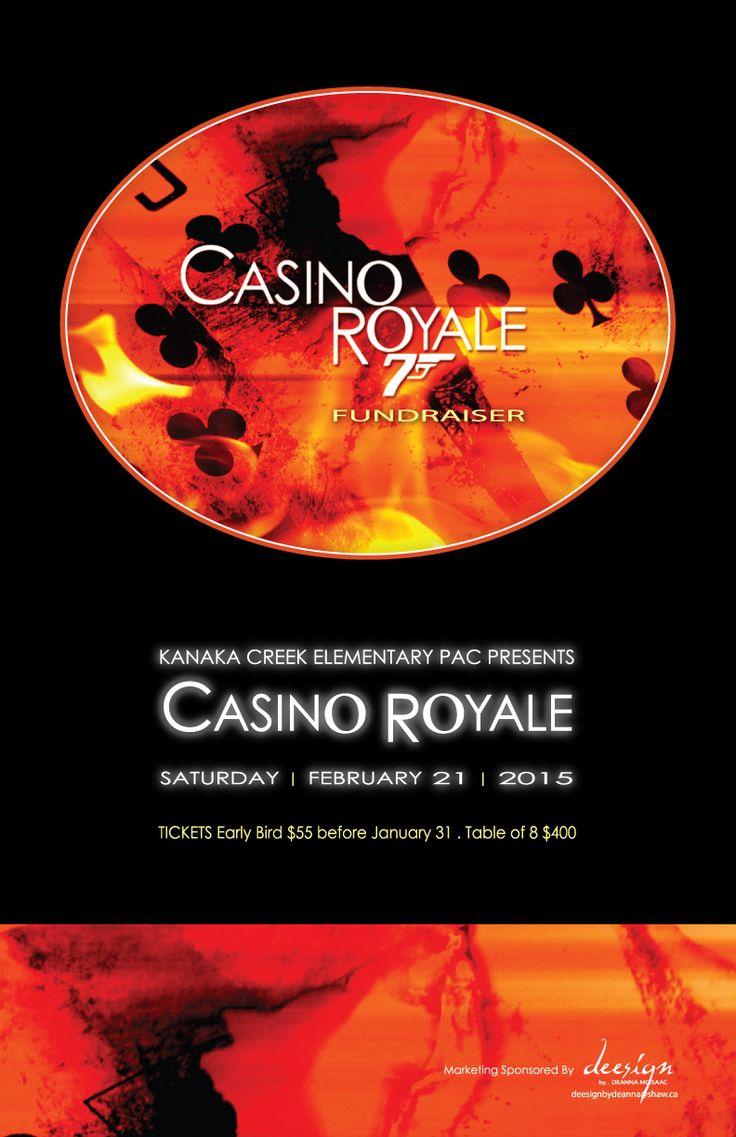11x17 poster design - Kanaka Creek Elementary Casino Royale Fundraiser 11x17 Poster Design By Deanna Mcisaac 2015 Fundraiser