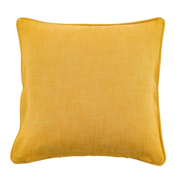 Cotton Slub Ochre Cushion | Dunelm