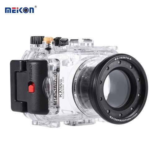 MEIKON SY-6 40m / 130ft Underwater Waterproof Camera Housing Transparent Case for Sony RX100 II