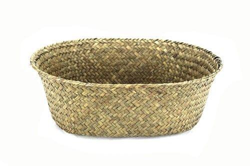 Dark Brown Oval Basket 12  X 9.5  X 3.5