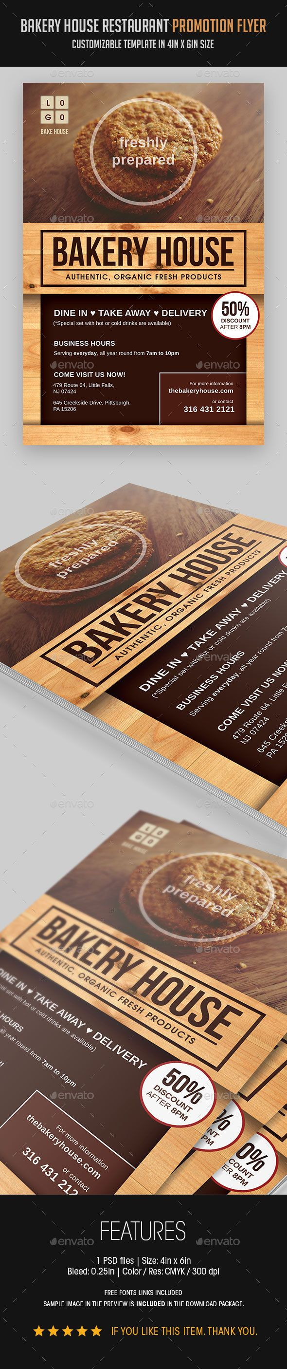 Bakery House Restaurant Promotion Flyer - Download…