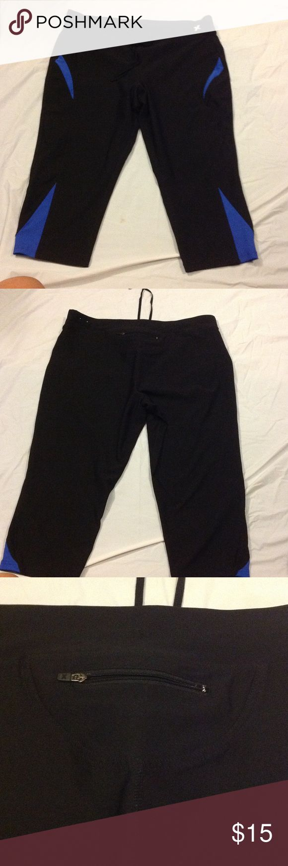 Xersion Fitted Capri Athletic Pants Used, but good condition athletic pants. 88% polyester, 12% spandex pants with drawstring and keep pocket in the back. See pictures, and ask any questions you might have Xersion Pants